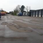 Højtryksrensning af parkeringsplads hos MAN Dalby | Stevns Miljø Service