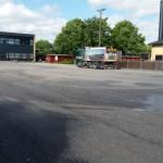 Fejning af asfalt på Strøby Skolen | Stevns Miljø Service
