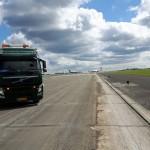 Stevns Miljø Service fejer efter renovering i Kastrup Lufthavn.