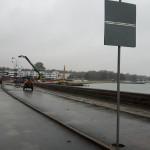 Stevns Miljø Service rengør Strandvejen efter renovering før ny asfalt.