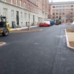 Højtryksrensning af permeabel asfalt på Ærøgade, Frederiksberg